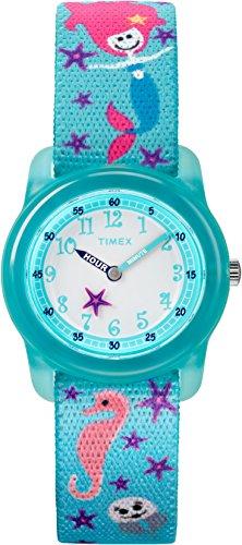 Timex Unisex Kinder Analog Quarz Uhr mit Stoff Armband TW7C13700