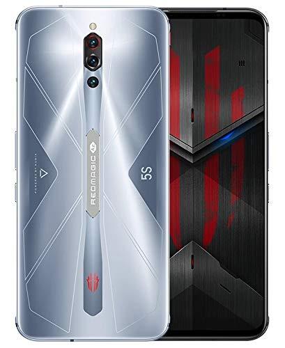 ZTE Nubia Red Magic 5S グローバル版 Global ver. / 5G / 128GB+8GB RAM / ゲーミングスマホ / ICE 4.0 Active Liquid-Cooling / 144Hz Refresh Rate / Qualcomm Snapdragon 865 / 6.65インチ AMOLEDディスプレイ/ 64MPトリプルカメラ / 日本語対応 / 5G対応 / SIMフリー スマートフォン (Sonic Silver / ソニックシルバー)