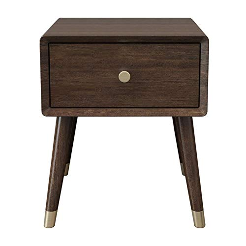 Teng Peng Industrial Nightstand, Stackable End Table with Open Front Storage Compartment, Retro Rustic Chic Wood Look, Accent Furniture with Metal Legs
