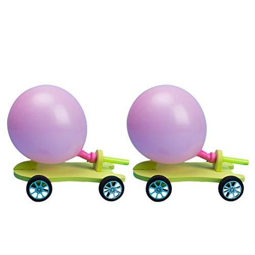 Toyvian 2 Juegos de Juguetes de Globos de Coche Juguetes Divertidos de Fiesta Globo de Energía Coche Montaje de Bricolaje Conjunto de Experimentos de Ciencia Juguete Educativo