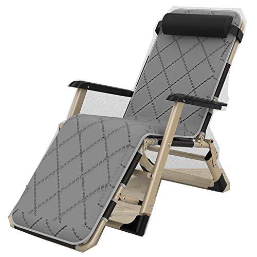 Relaxliege Liegestuhl,Recliner Stuhl, Outdoor Folding Garten Sun Lounger Sun Chair Recliner Gartenmöbel Klappstuhl Mit Kissen Für Outdoor Office Travel-6.