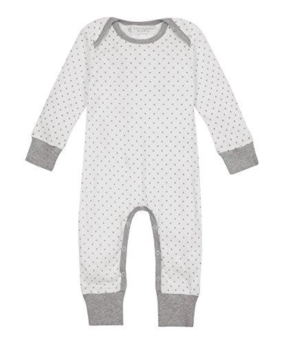 Sense Organics - Combinaison - Bébé (fille) 0 à 24 mois, Blanc (AOP Little Stars), 0-3 mois
