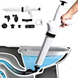Toilet Plunger, Air Power Bathroom Plunger, High Pressure Drain Blaster Gun, Powerful for Bathroom, Toilet, Floor Drain, Sink, Clogged Pipe, White