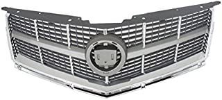 Partomotive For 10 11 12 SRX Grill Grille Assembly Chrome Frame Silver Insert GM1200629 25778321