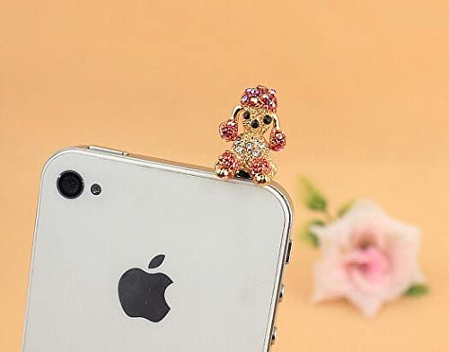 Tucson Mall Dust Plug- Earphone Jack Accessories Po Bling Red Crystal Max 74% OFF Lovely