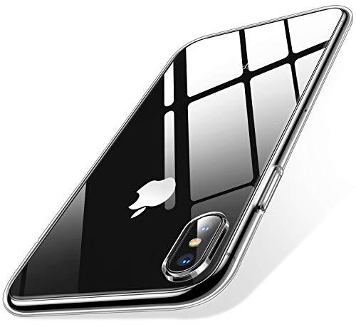 Humixx iPhone XS Max Hülle, Silikon TPU Hochwertigem Stoßfest, Anti-Fingerabdruck, Anti-Scratch Hülle Crystal Clear Weich Soft Case für iPhone XS Max (Transparent)