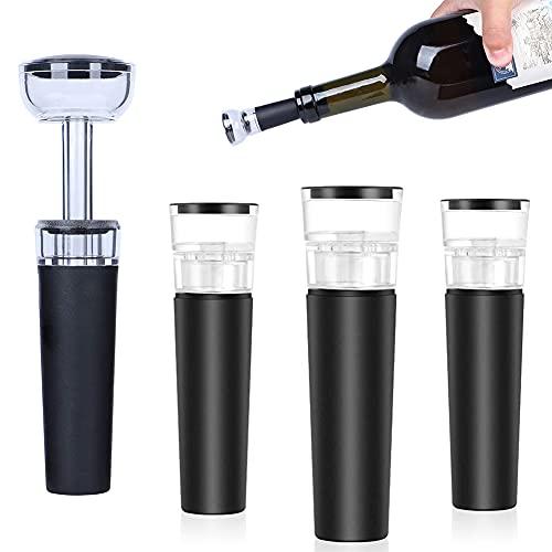 5 tapones de vacío reutilizables para vino tinto, champán, colección de cerveza.
