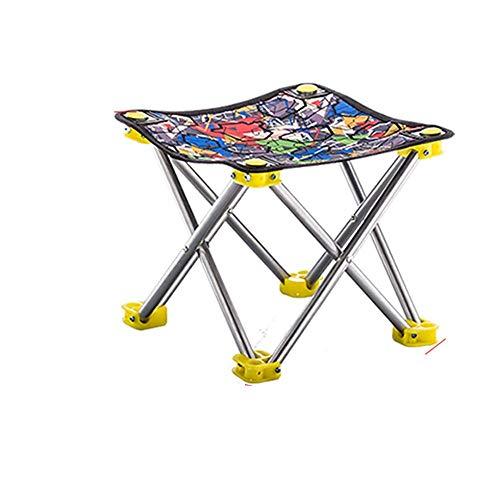 ZLININ Y-longhair - Silla plegable para pesca al aire libre, portátil, para camping, playa, picnic, con bolsa