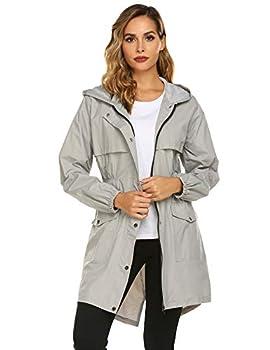 Womens Rain Coat Waterproof Lightweight Rain Jacket Active Hooded Women s Trench Coats