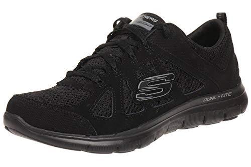 Skechers Flex Appeal 2.0 Simplistic Women's Trainers Fitness Lite Weight Black, tamaño de Zapato:EUR 39