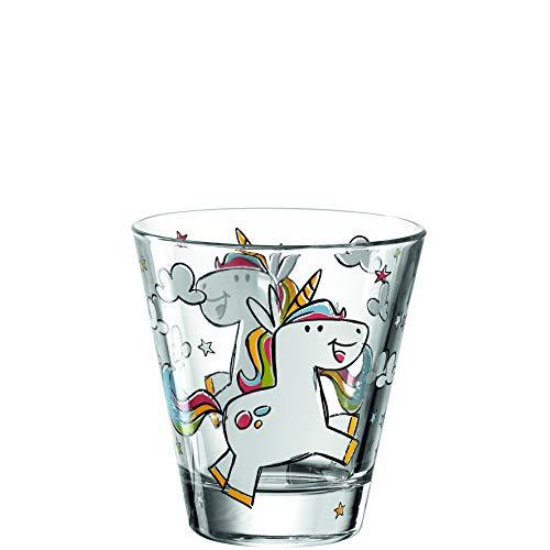 Leonardo Bambini Trink-Glas, Kinder-Becher aus Glas mit Tier-Motiv, spülmaschinengeeignete Saft-Gläser, 6er Set, 215 ml, 017902