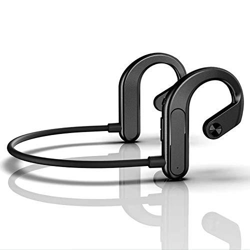 boxiangxu Audífonos deportivos Bluetooth de conducción ósea montado en la oreja auricular inalámbrico Bluetooth 5.0 cuello colgante