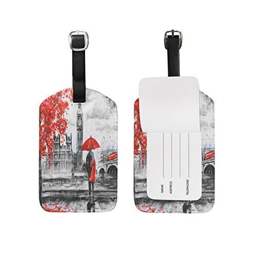 Pintura Big Ben Lover Etiquetas de equipaje de viaje ID bolsa etiqueta para maleta 1 pieza