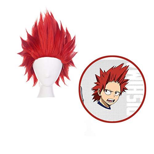 AICW Kirishima Eijiro Cosplay Wigs for My Hero Academia,Anime Short Red Synthetic Men's Wigs (Eijiro Kirishima)