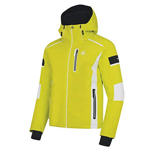Dare 2b Herren Edge Out Black Label Waterproof & Breathable High Loft Insulated Ski & Snowboard Jacket with Detachable Snow Skirt and AEP Kinematics wasserdichte, isolierte Jacken, Citron Lime, XL