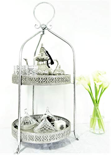 Mystery Souk Marokkaans compleet theeservies op een elegante Marokkaanse etagère of bijzettafel