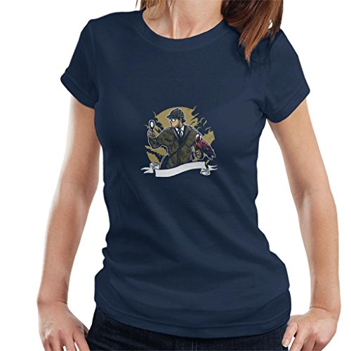 Cloud City 7 Sherlock Holmes Papegaai Vergrootglas vrouwen T-shirt