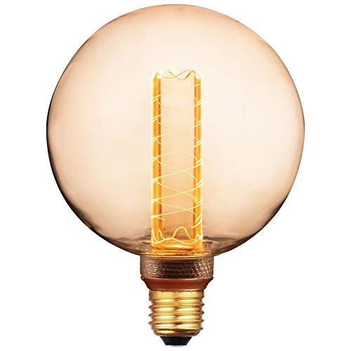 Sunlite 81255-SU LED G30 Virtual Filament Light Bulbs, Medium Base, 3.5 Watt, (15W Equivalent) 120 Lumens, Globe, Dimmable, 15,000 Hour Life, UL Listed, 1 Pack, 20K Amber