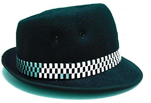 Ska Porkpie Hat Classic Black (différentes tailles Small - XL) (Small)