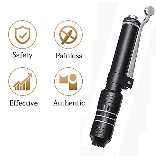 QIYE Hyaluronique Pen,Non Invasive Wrinkle Removal Waterspuit Injectie Atomizer, Hoge druk Hyaluronzuur Pen,Zwart