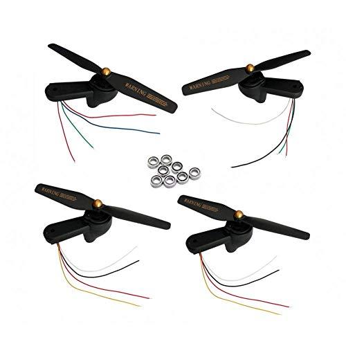 YNSHOU Funcional El Brazo de ala Plegable del rodamiento Incluye Motores, Engranajes del Motor, Eje, Juego de hélice / Ajuste para Visuo Xs812 GPS RC Drone Quadcopter Piezas ( Color : As Shown