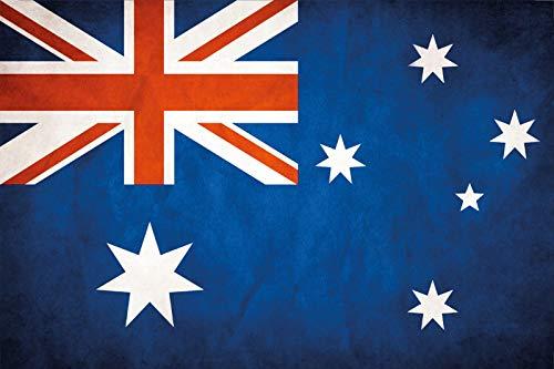 FS land vlag Australië nationale vlag metalen bord bordje gewelfd Metal Sign 20 x 30 cm