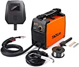 TACKLIFE MIG Welder, Electric Welder ETL Certification 90 Amp 120V Flux Core Wire Automatic Feed Easy with IGBT DC Inverter, Lightweight and Portable Welding Machine, 5 Pcs Conductive Nozzles EWT02A