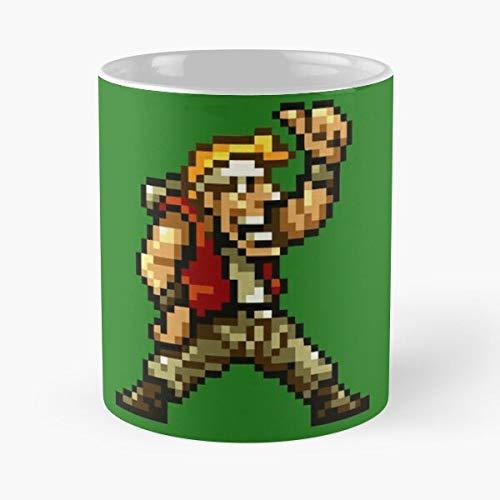 GrimDC Neogeo Marco Metal Slug ROSI Videogame War SNES Taza de café con Leche 11 oz