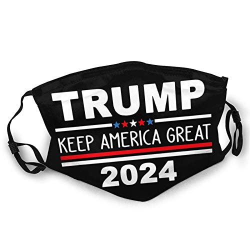 Trump Keep America Great 2024 Adults Face Mask Washable Soft Neck Gaiter Reusable Face Cover Protection Windproof Light Comfortable