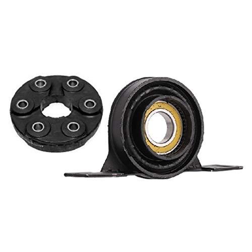 MeiZi 26111227410 Eje de transmisión Central de la portadora de cojinete de Apoyo del Disco Kit Flex Fit For BMW 3er E36 E46 E34 E39 5er (Color : Black)