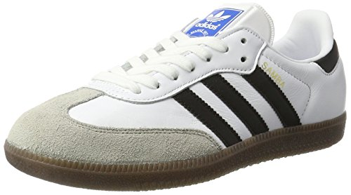 adidas Samba OG, Zapatillas Hombre, Blanco (Footwear White/Core Black/Clear Granite), 42 EU