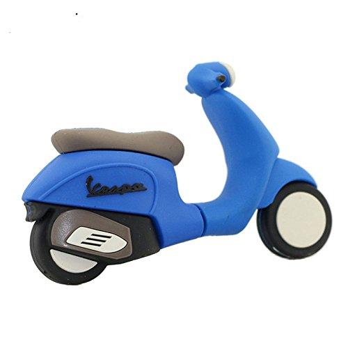 16GB La Motocicleta Azul Modelo USB Flash Drive Pen Drive USB Flash Drive U Disco