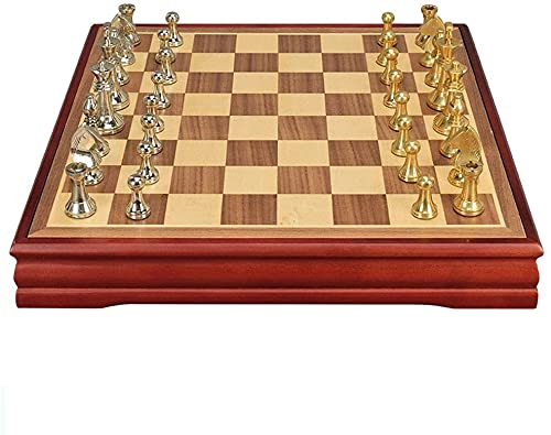 EIERFSKIOT Tablero ajedrez ajedrez Profesional ajedrez magnetico Plegable Juego de ajedrez para niños y Adultos Juego de Tablero de ajedrez Familiar clásico con Tablero de ajedrez de Madera Piezas d