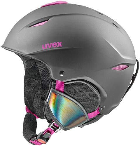 Uvex Erwachsene Primo Skihelm, Black-pink mat, 52-55 cm