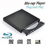 Ploveyy Blu-Ray Drive USB External Portable DVD Burner BD-ROM DVD/CD-RW/ROM Writer for