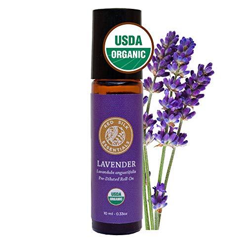 Organic Lavender Essential Oil, 100% Pure USDA Certified Organic Lavandula Angustifolia - 10ml Pre-diluted Roll-on