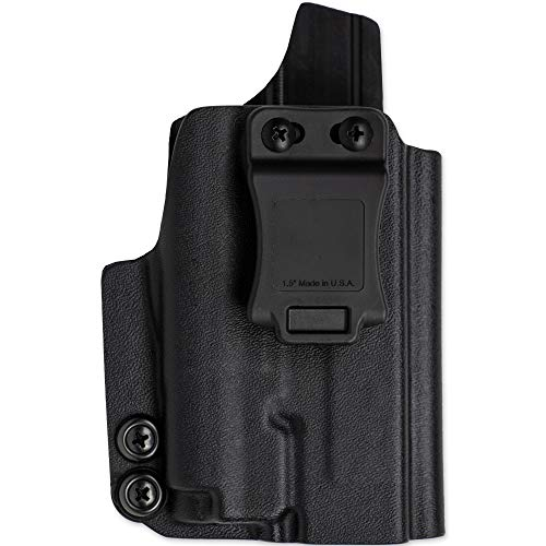 Skydas Gear Kydex Holster fits Taurus G2C & G3C w/Olight PL-Mini 2 Attached (G2, G2S, PT-111, PT-140) Right Hand IWB Concealment Black