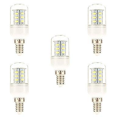 WELSUN Ampoule LED E14 Blanc Naturel 4 W 24 SMD 5730 220 LM 6000-6500 K AC 100-240V 5pièces