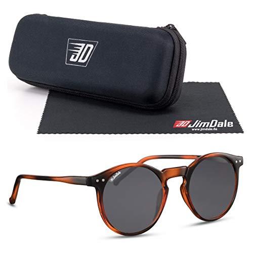 JD Jim Dale Gafas de sol redondas Panto UV400 para hombre y mujer, muchos colores Marrón Havana - Negro Tonizado Talla única