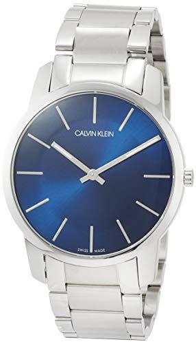 Calvin Klein K2G2114N - Reloj para Hombres, Correa de Acero Inoxidable Color Plateado