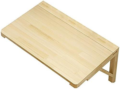 WNX Holz Wand-Klapptisch Küche Esstisch Kinder Schreibtisch Wandbehang Studie Tisch Klapp Schreibtisch Holz Farbe (Größe   80  60cm)