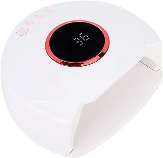 54W Secador Inteligente de Esmaltes de Uñas, Lámpara de Gel UV Que Cura la Máquina Sin Dolor con 27 Luz y Sensor Automático y 4 Temporizador y Fuente de Luz Dual(01)