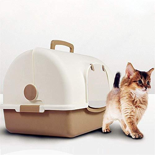 ZXL Zandbak voor katten, Aseo voor huisdieren, grote capaciteit, zandbak voor katten, katten, met ruimte voor katten, pan, voor kleine huisdieren, konijnen, puppy's