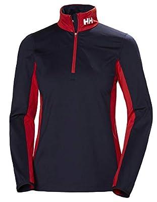 Helly Hansen Women's Phantom 2.0 1/2 Zip Lightweight Stretch Fleece Active Pullover, 597 Navy, Medium