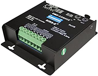 SIRS-E 4 Channel CV DMX PWM Decoder for RGB & RGBW LED Lighting 12-24V DC 10A per Channel Driver Controller Dimmer DMX-CON4V2