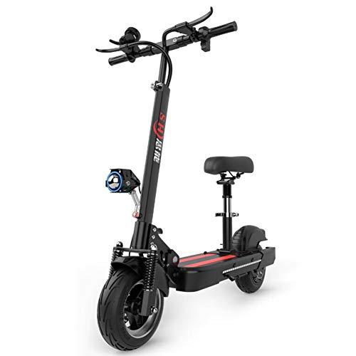 Pliant Scooter électrique, Trottinette Electrique avec Siège,Réglable en Hauteur ,48V /13Ah - Vitesse maximale 40 km/h, LED lumière et HD Display, Trottinettes électriques pour Ados et Mixte Adulte