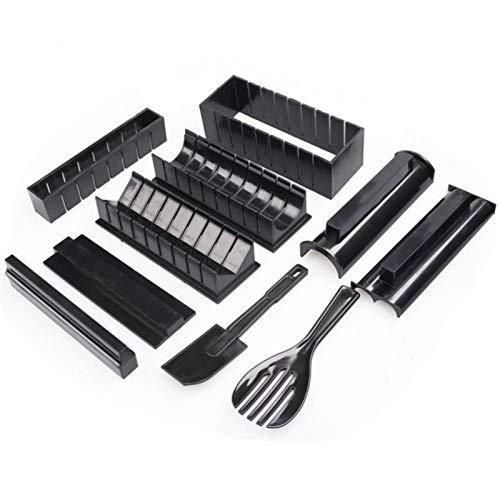 MOVKZACV Kit per sushi Maker, 10 pezzi per sushi, set fai da te per principianti, 5 forme per sushi Maker, Easy Sushi Maker, semplice e divertente anche come regalo