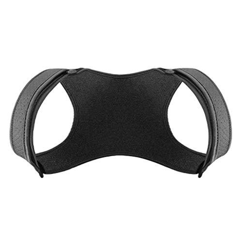 F Fityle Haltungskorrektur Rückenstütze Rückenstabilisator für Herren Damen und Kinder, Komfortabel Geradehalter - Schwarz + Beige, S (Schwarz)
