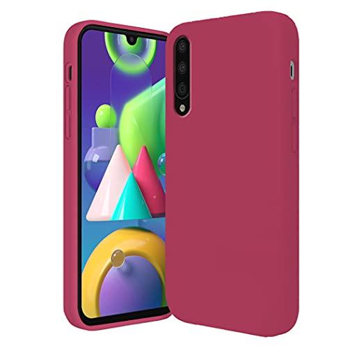Jancyu kompatibel mit Xiaomi Mi9 Hülle Xiaomi Mi9 SE Hülle Silikon Handyhülle Ultra dünn Flüssiges Stoßfest Handy Backcover Anti-Scratch Anti-Rutsch Schutz Hülle (Rose rot, Xiaomi Mi 9)