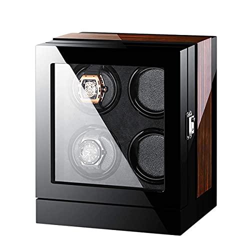 AMAFS Holz-Automatik-Uhrenbeweger-Aufbewahrungsbox mit LCD-Touchscreen Automatische Drehungen Holz-Safe Led Winder Box Uhren-Display Winder,B,Wandtresore Beautiful Home